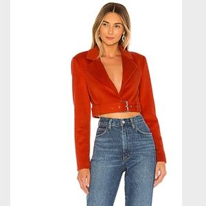 MAJORELLE XS Red Cropped Judy Jacket